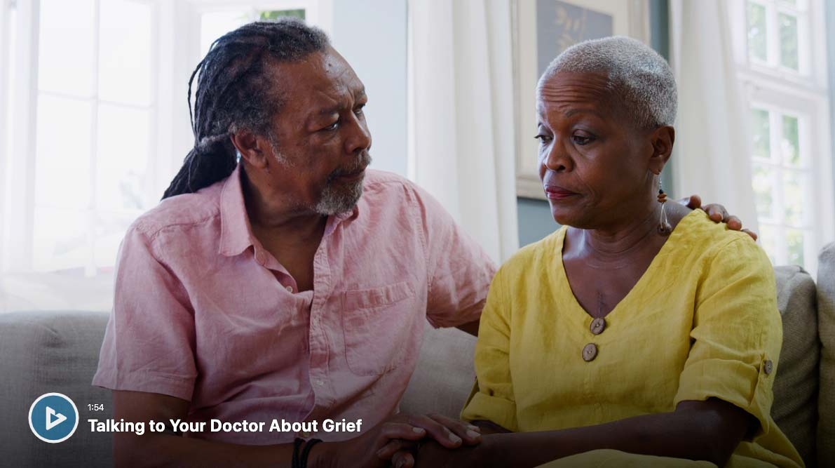 talking to your doctor about grief video screenshot