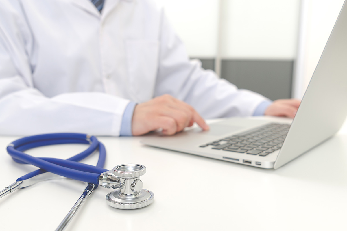 doctor using telehealth services