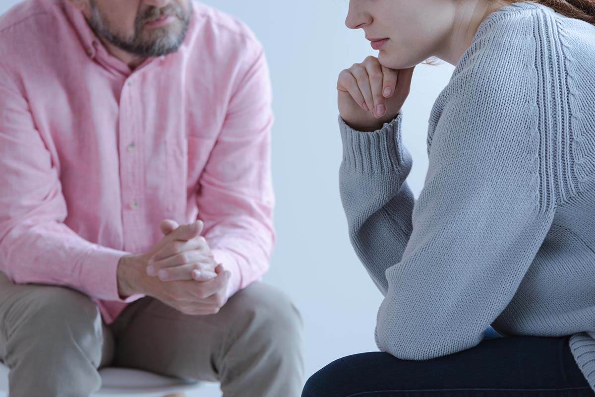 individual in a session with their trauma therapist near Salem County NJ
