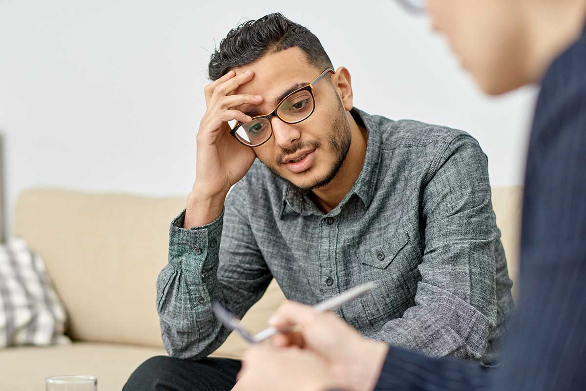 man getting adhd therapy collinswood nj